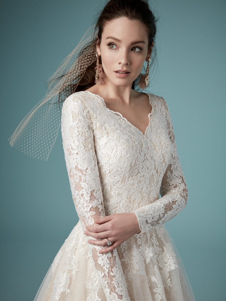 Maggie Sottero long sleeve lace Wedding Dress
