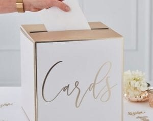 Gold Wedding cardbox