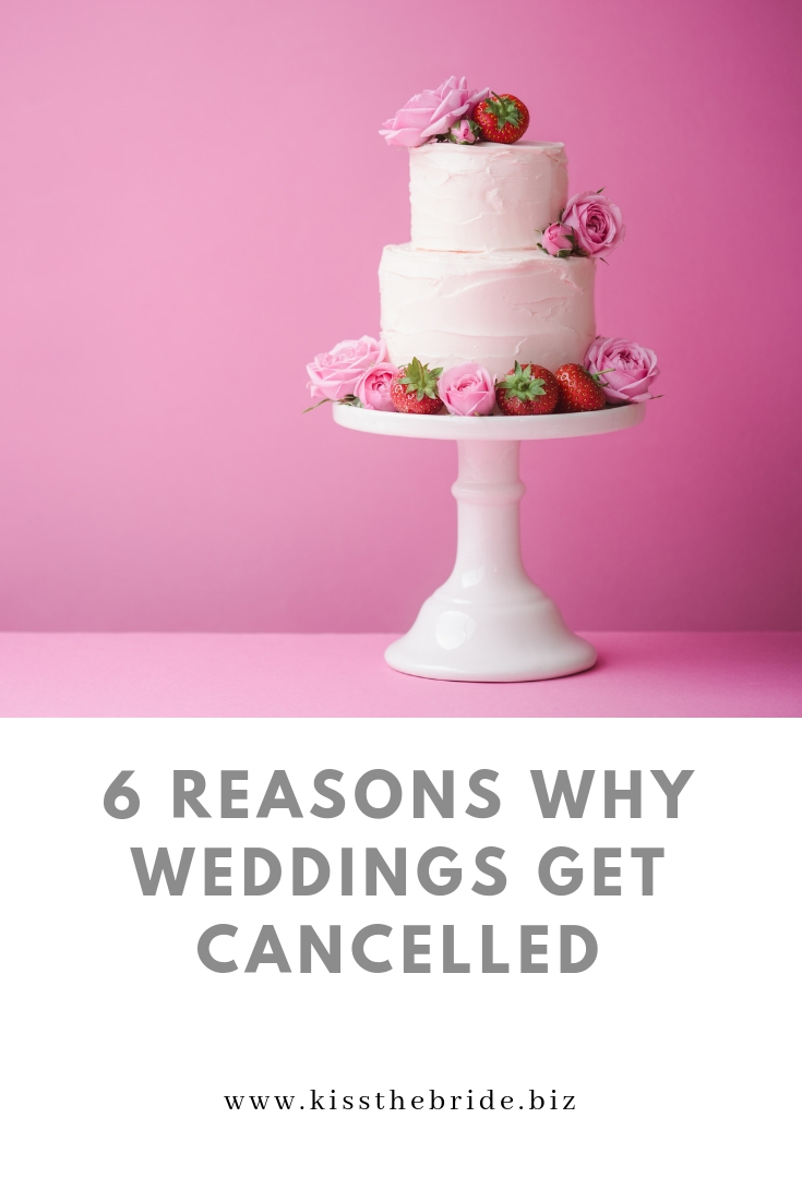 Why weddings are cancelled