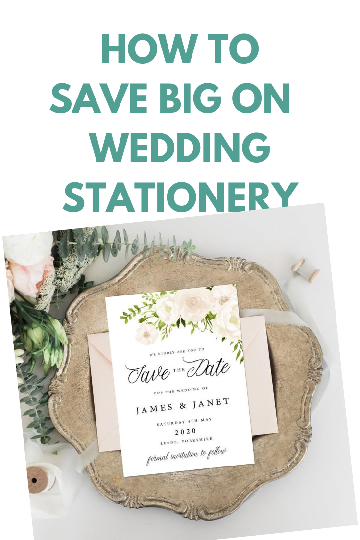 Wedding stationery cost saving
