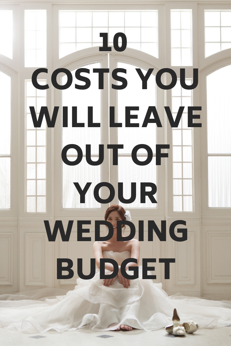 10 hidden wedding costs