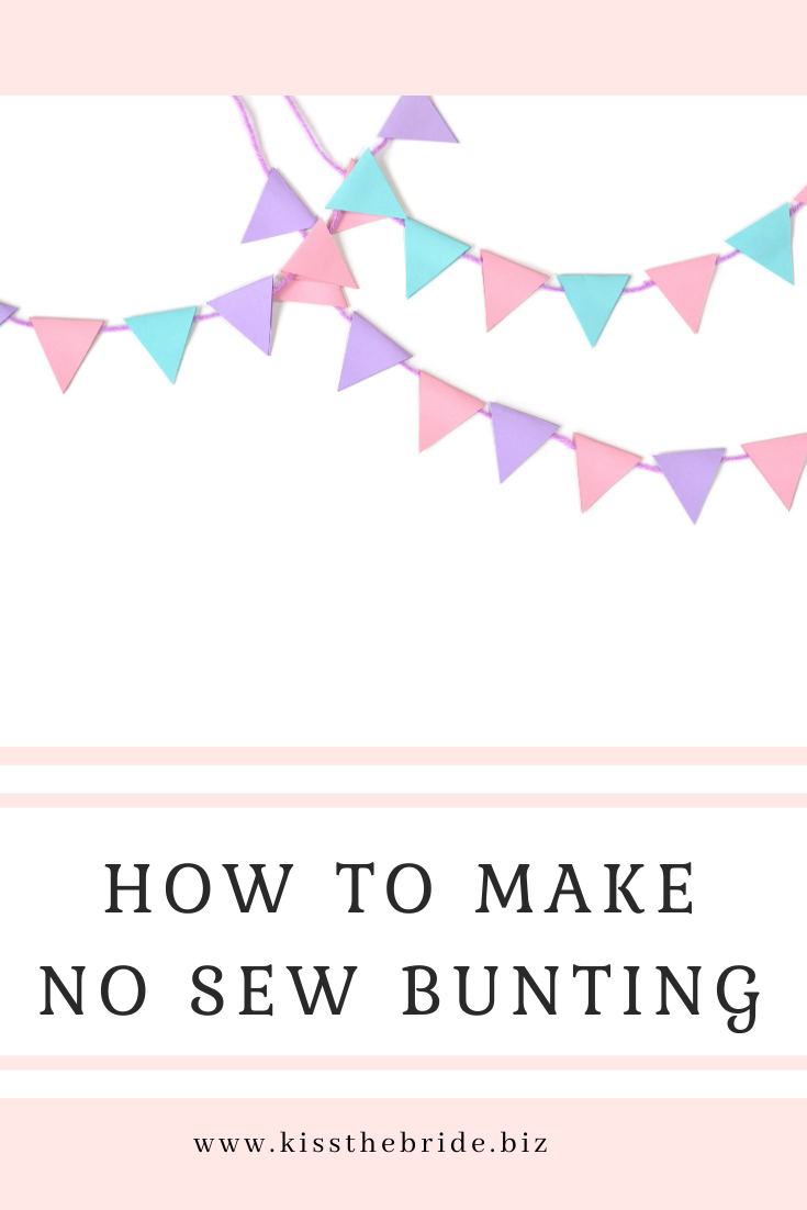 No SEW wedding bunting