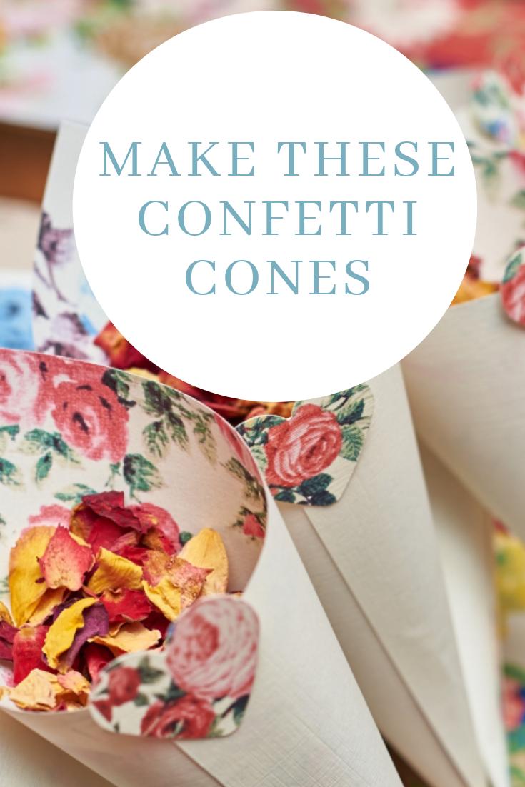 How to make confetti cones