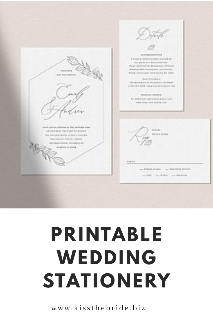 Wedding printable stationery