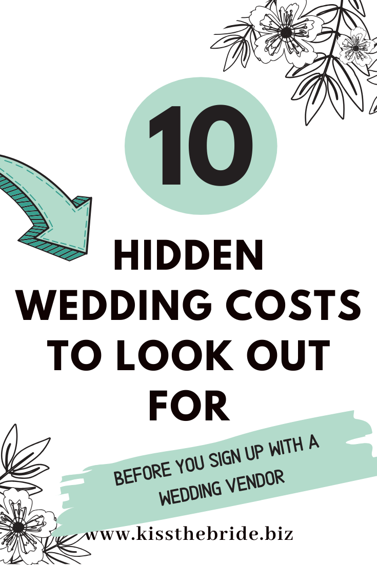 Hidden wedding costs you need to look out for