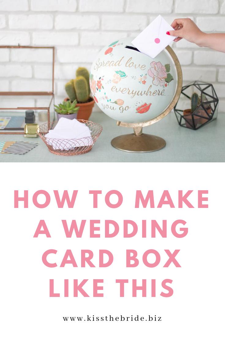 Globe wedding card box