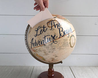 Globe Wedding card box