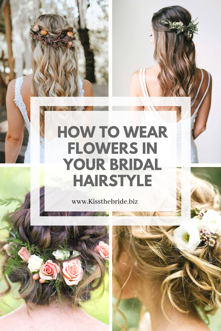 Bridal hairstyles with flowers