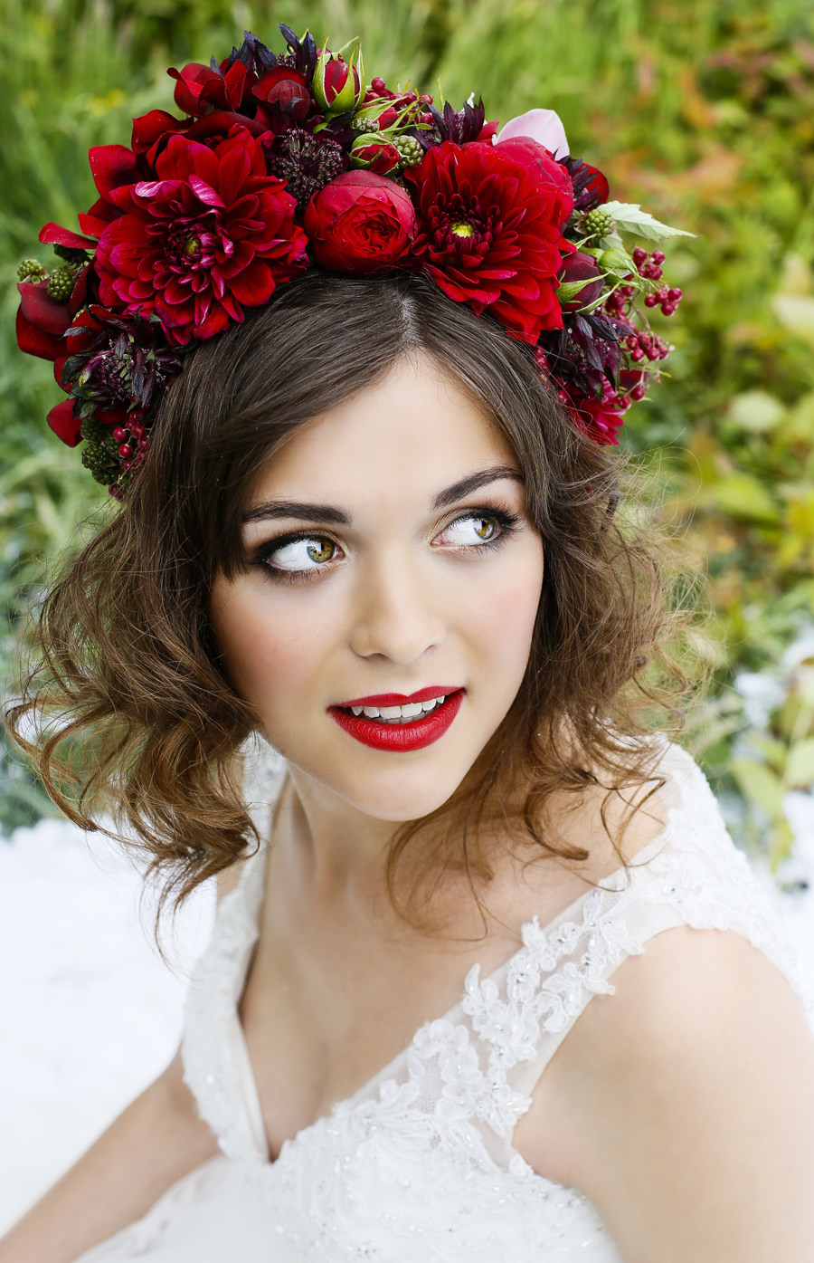 Red flowercrown