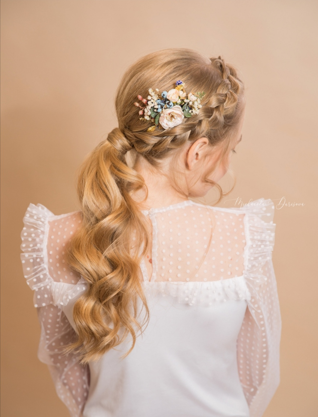 Pretty floral haircomb