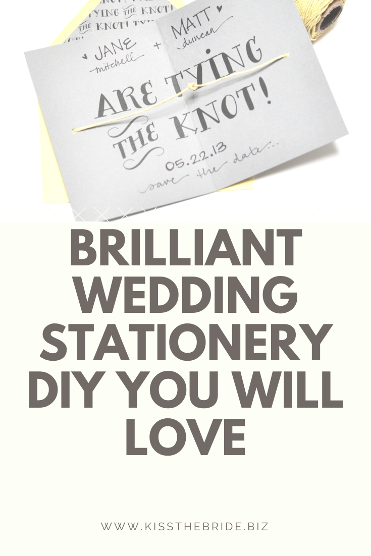 Wedding stationery diy