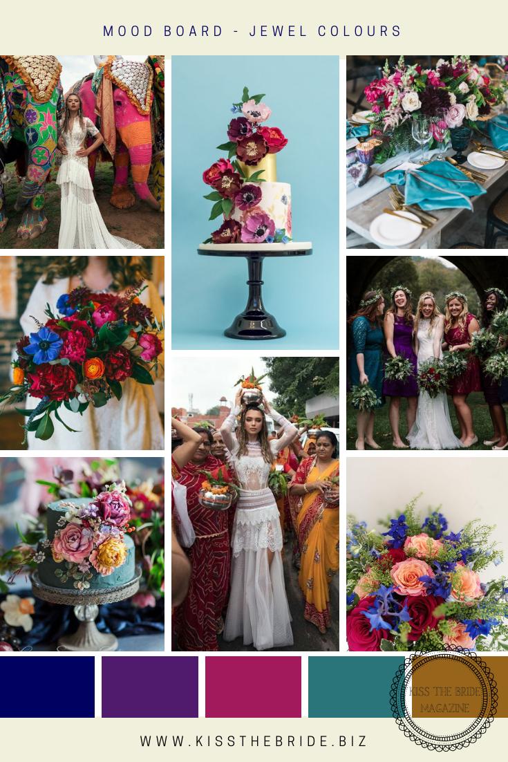 Jewel coloured wedding ideas
