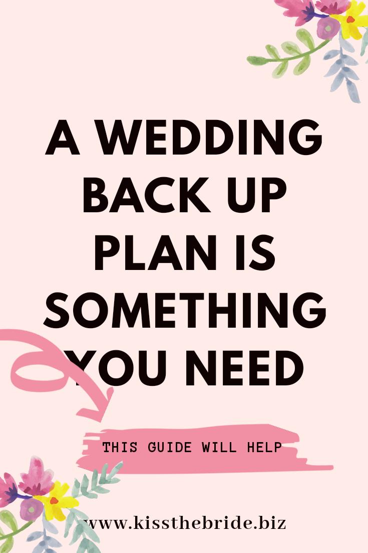 Wedding back up plan