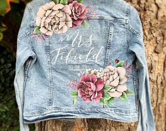 Denim wedding jacket