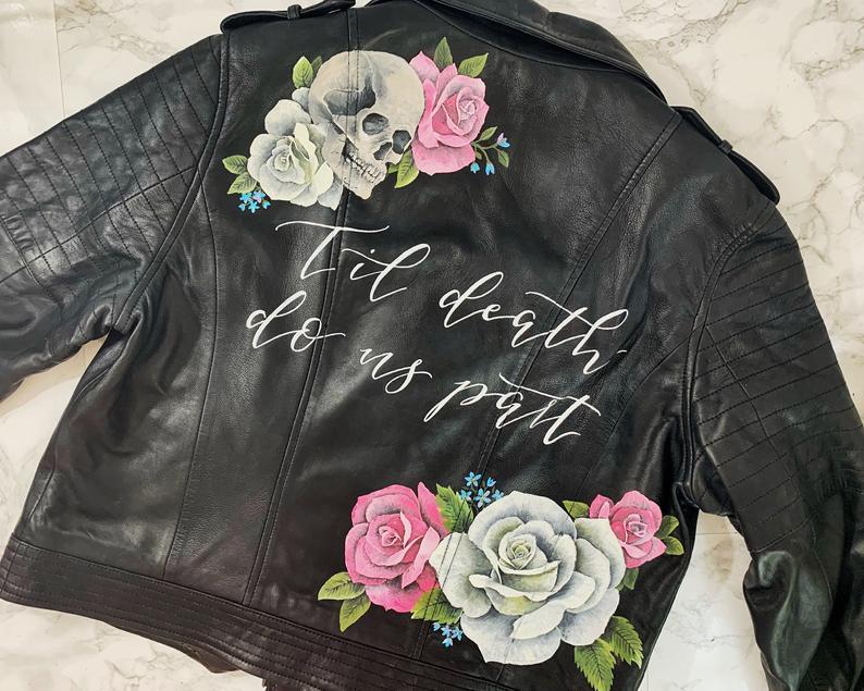 Leather jacket for wedding