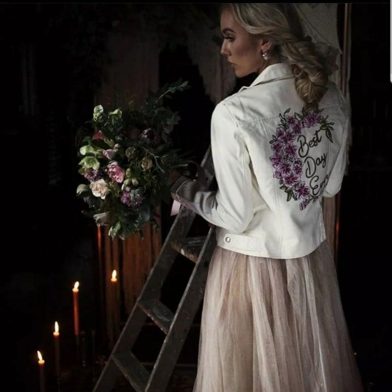Ivory wedding jacket