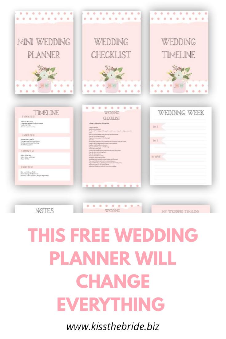 Free wedding planning download