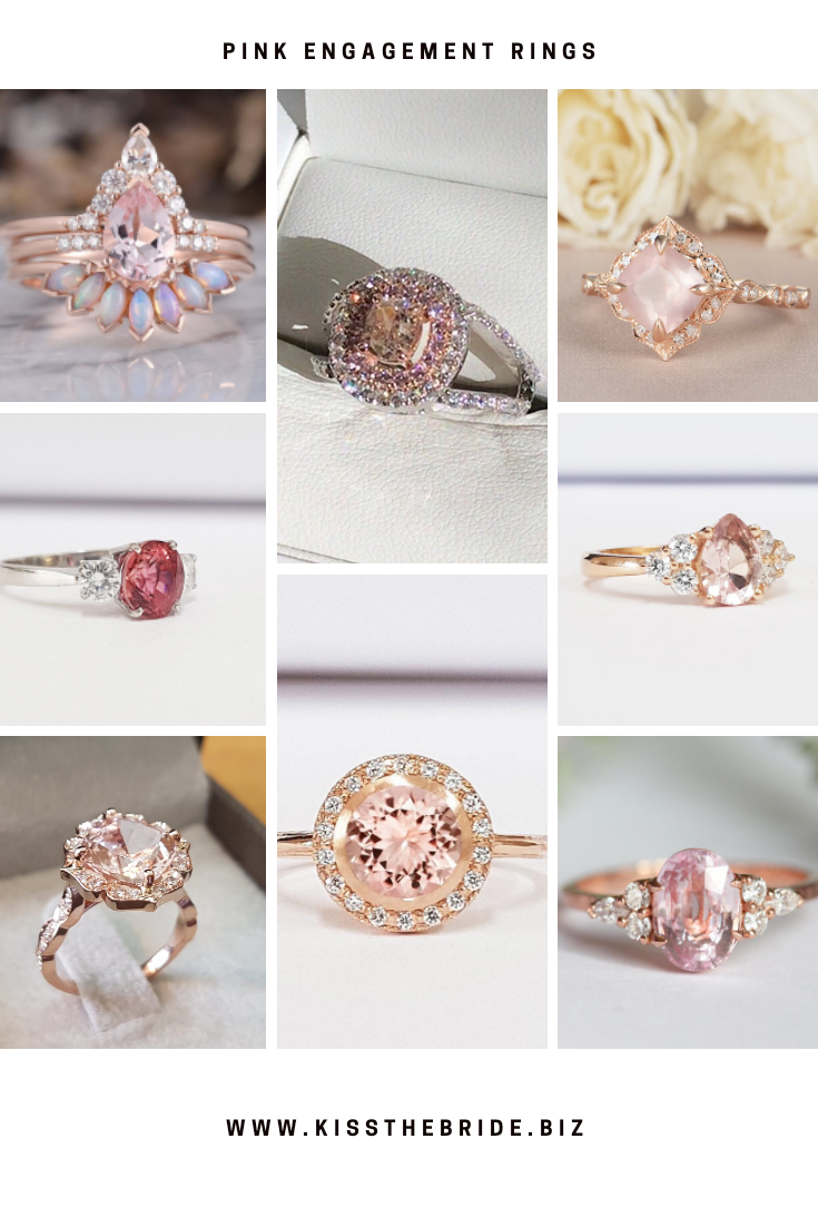 Beautiful pink engagement rings