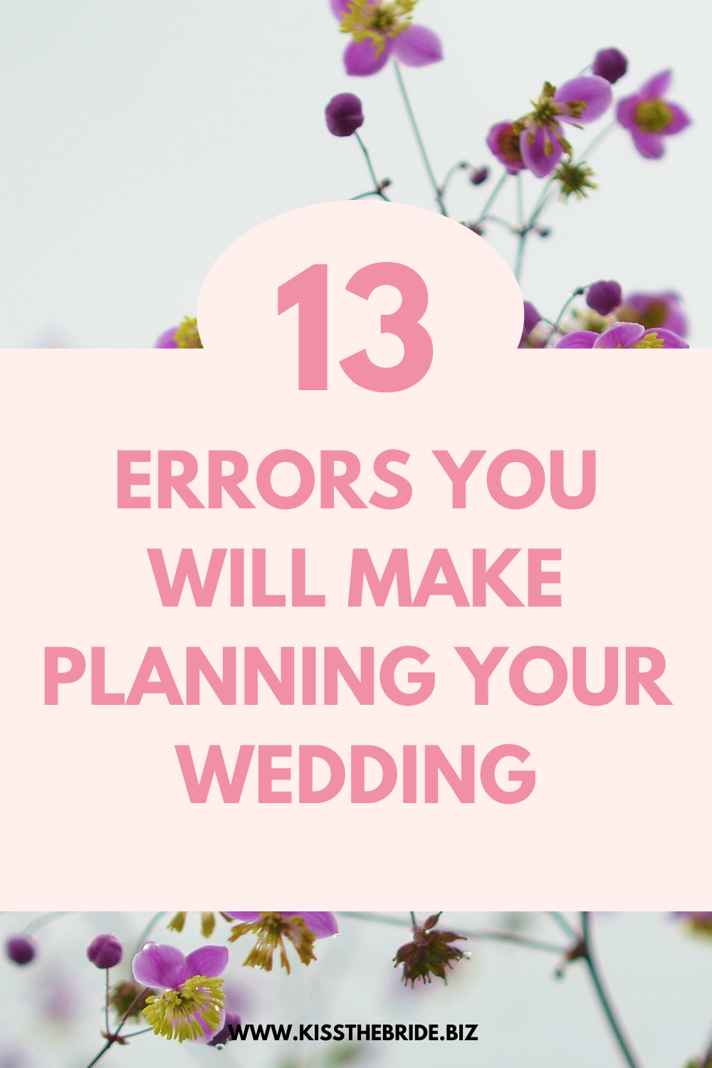 Wedding planning errors