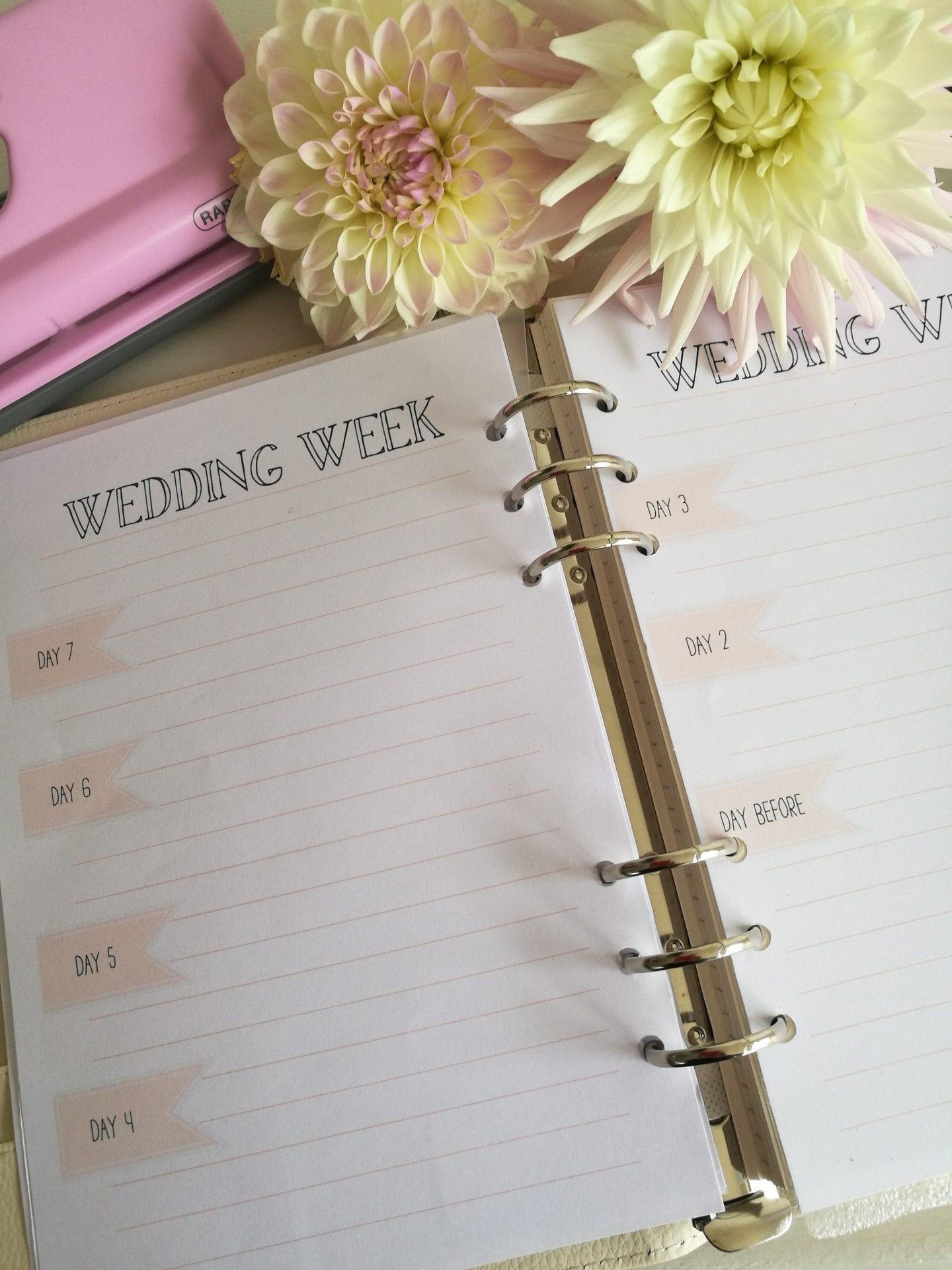Wedding printable planner