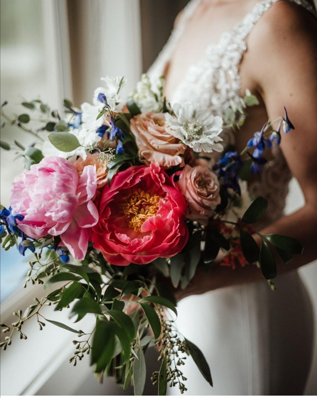 Brides peony bouquet