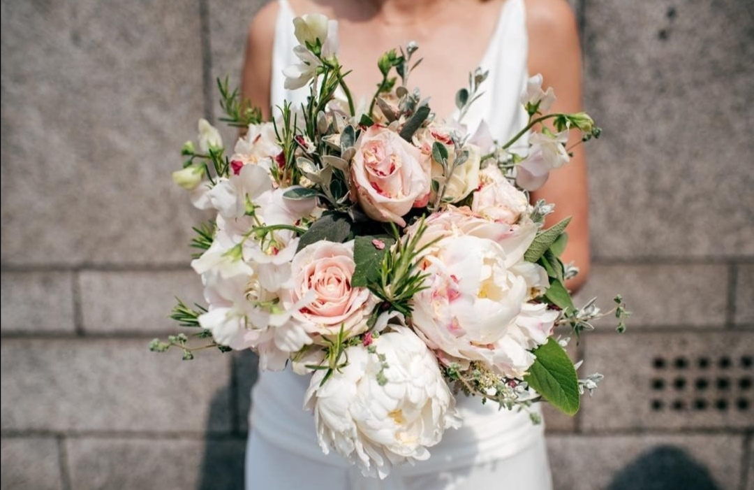 Pastel Peony Bridal bouquet