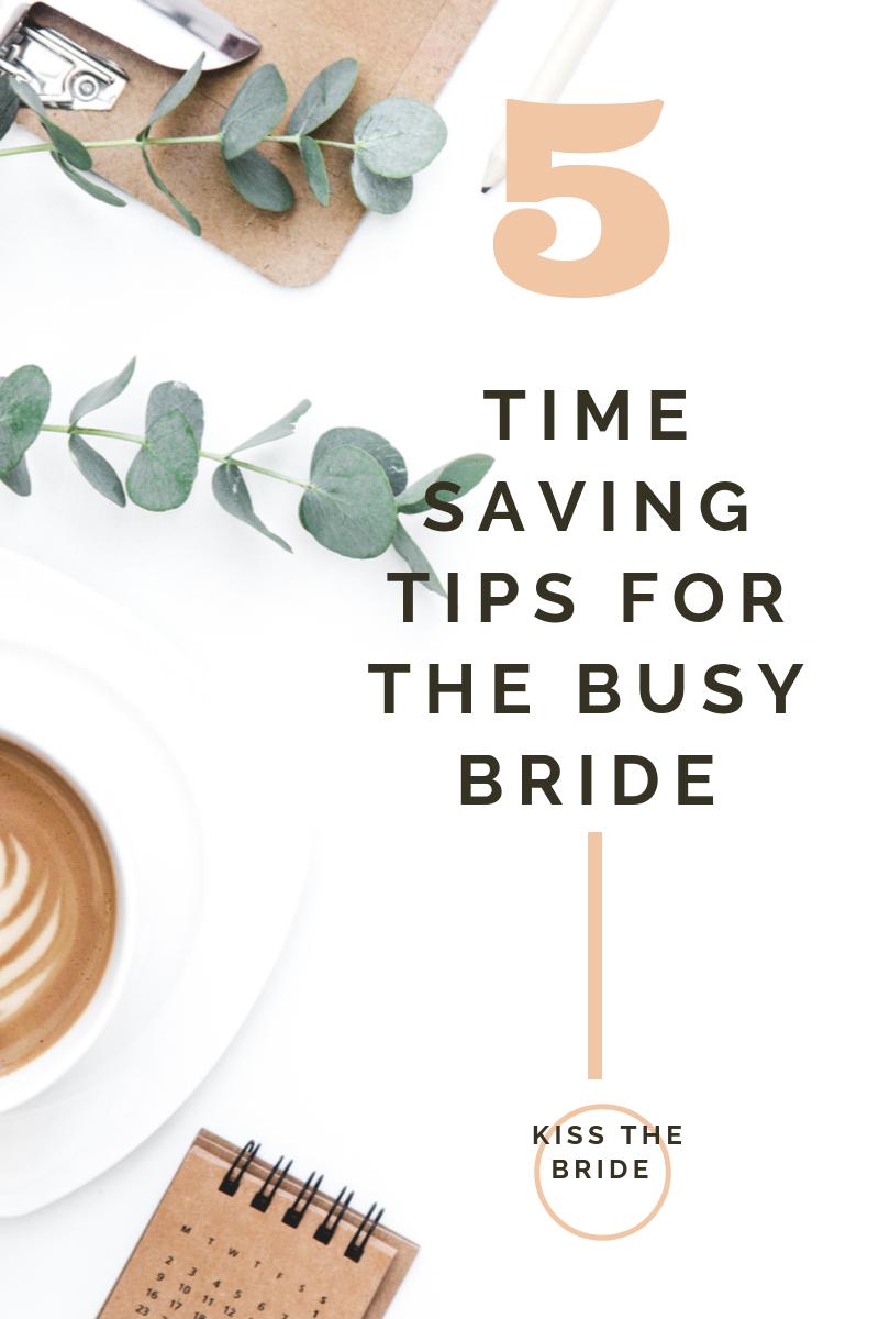 Time saving wedding ideas