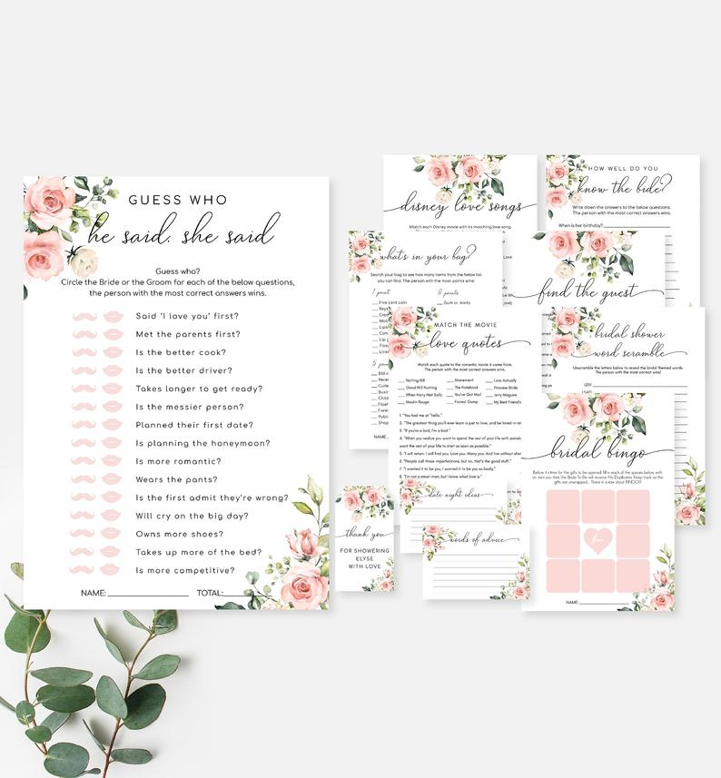 Hen party printables
