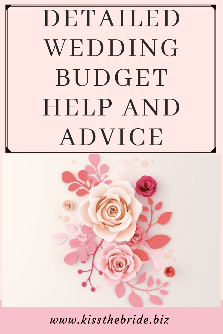 Detailed wedding budget advice