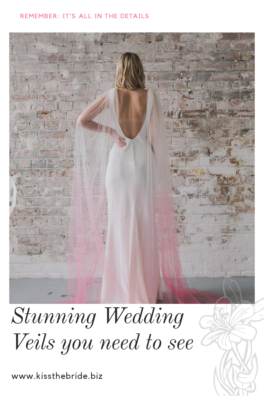 Pink Ombre Wedding veil