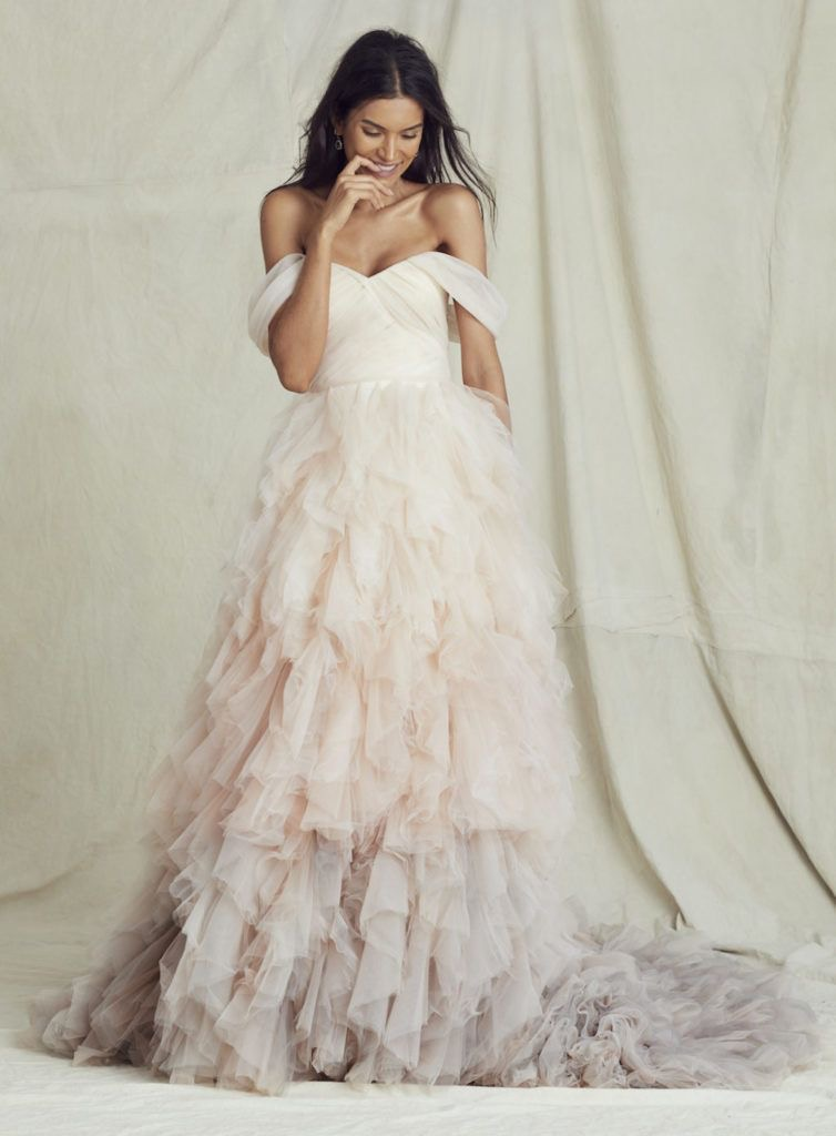 Blush ombré wedding dress