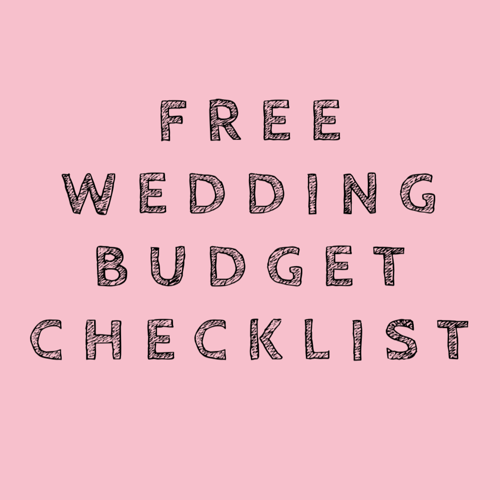 FREE wedding budget checklist and guide