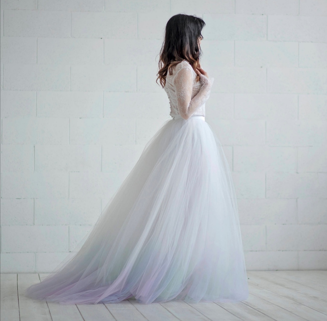 Lilac Ombre Wedding dress