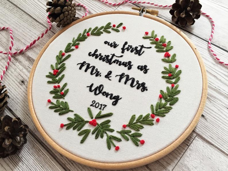 First christmas embroidery
