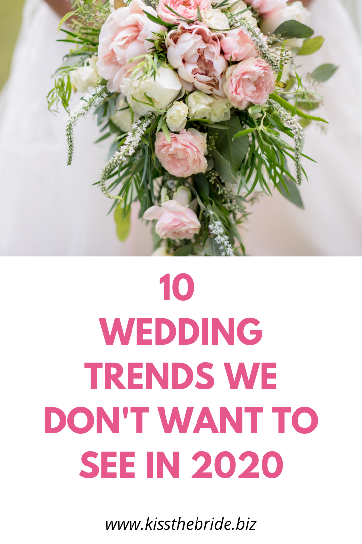 Wedding trends you should ignore
