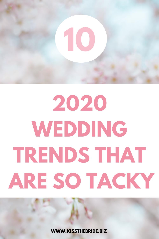Terrible wedding trends