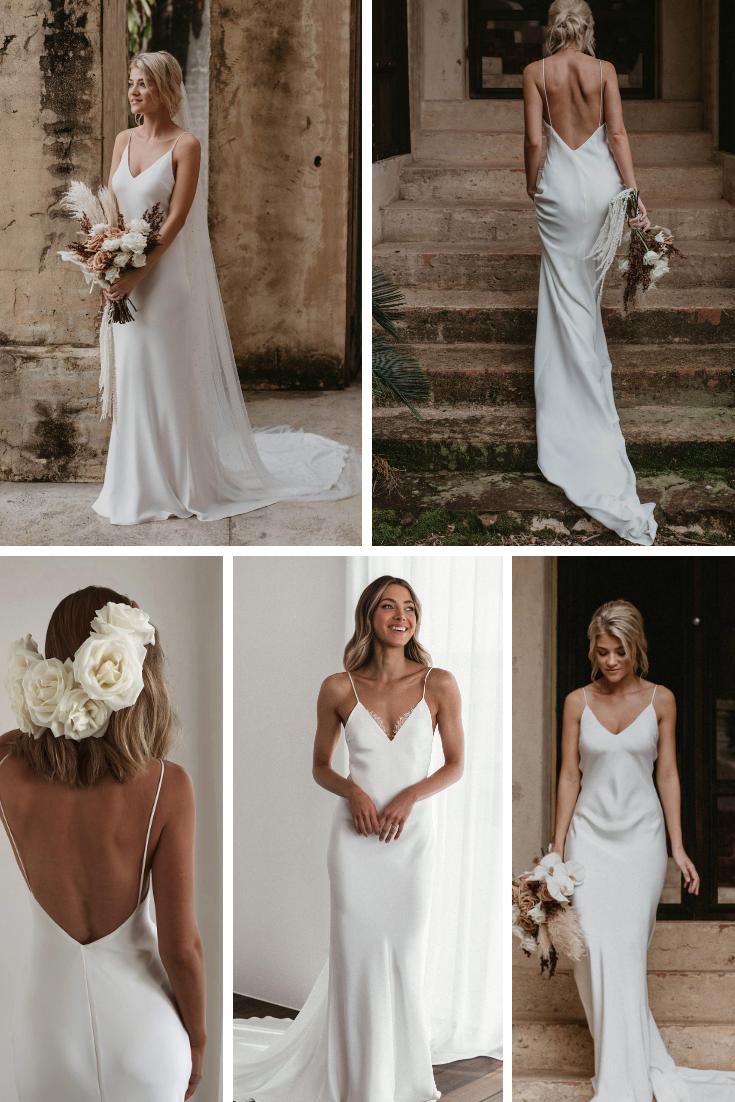 Silk summer gll wedding dress