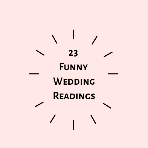 23 Funny Wedding readings you will love
