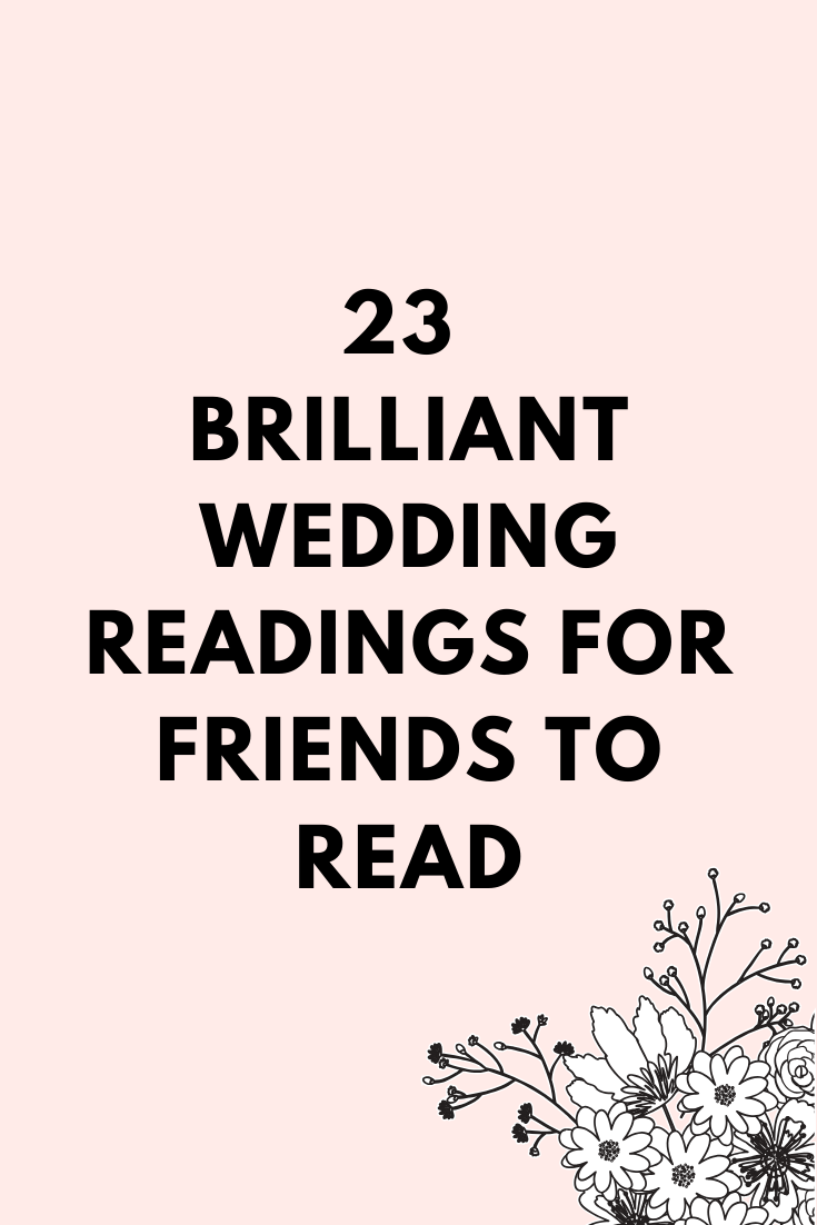 23 Funny Wedding Readings You Will Love Kiss The Bride Magazine