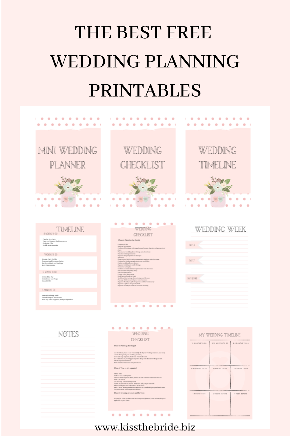 Wedding planning printable