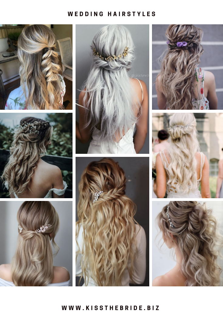 Halfup half down wedding hairstyles