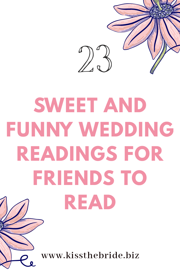 Funny Wedding readings