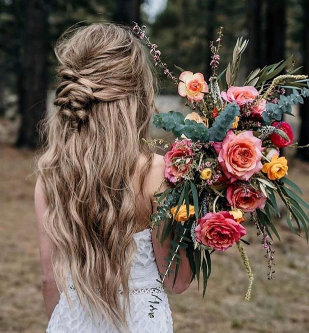 22 Half up Wedding hairstyles for 2020