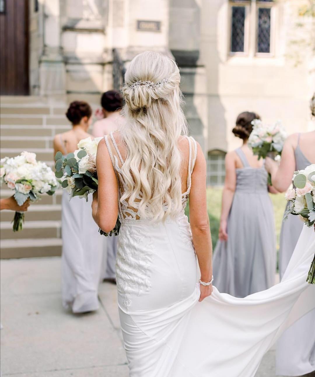 Halfup wedding hairstyles