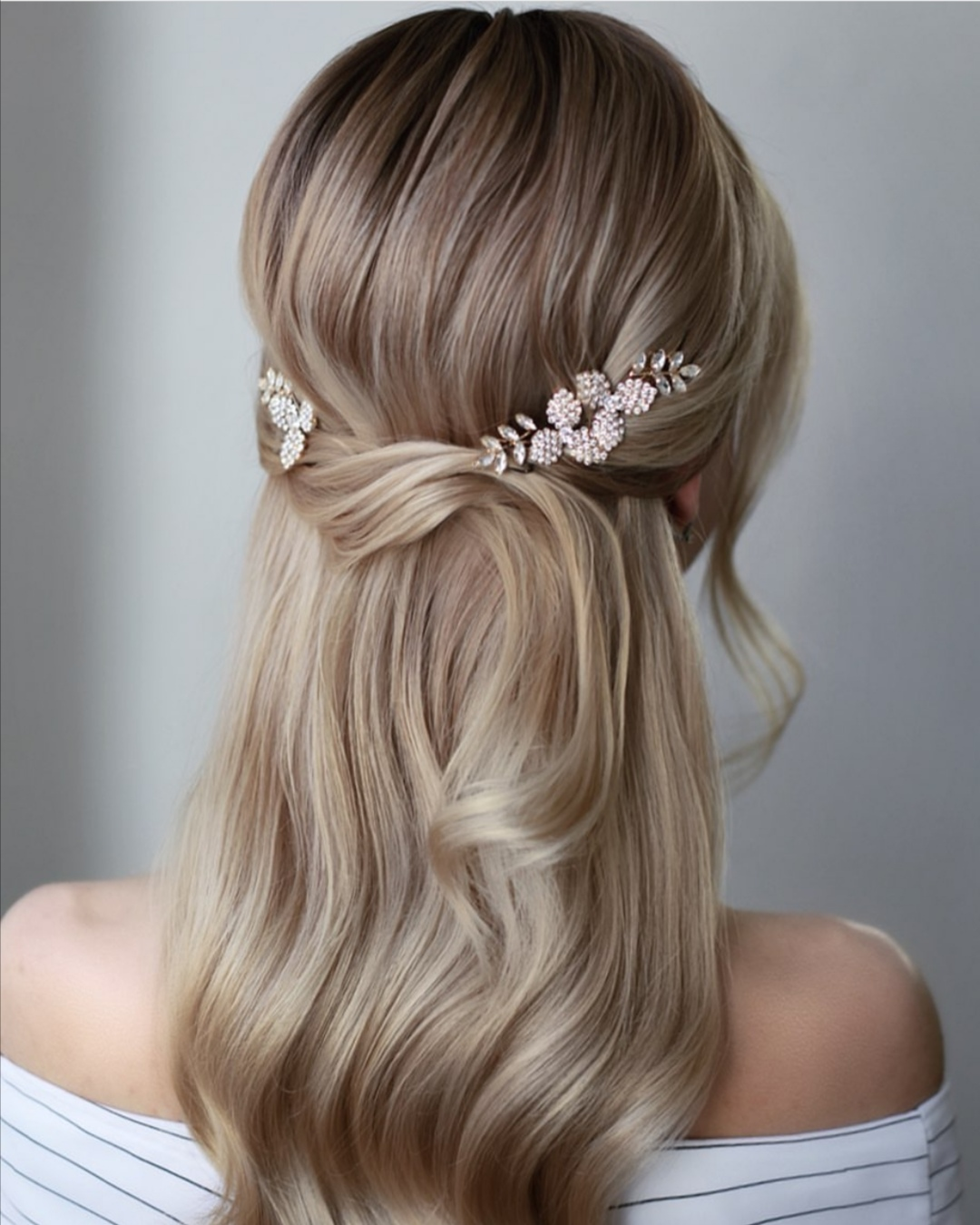 22 Half up Wedding hairstyles for 2020 ~ KISS THE BRIDE ...