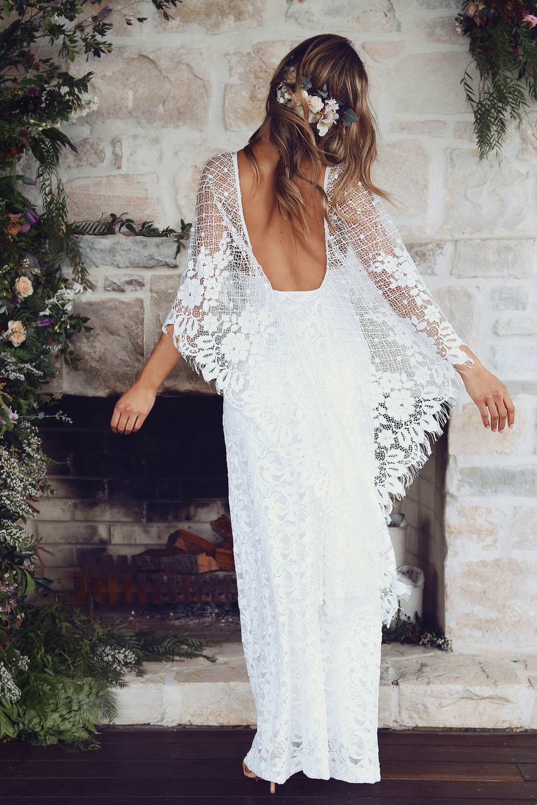 Verdelle lace wedding dress