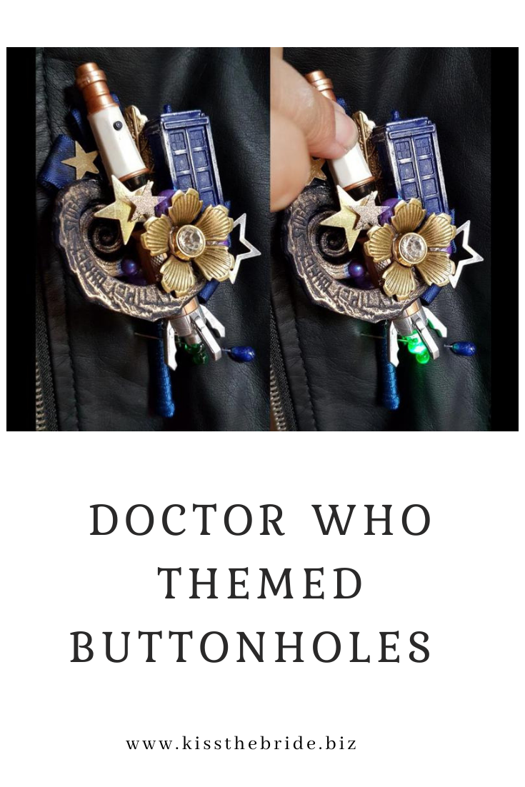 Doctor Who Themed buttonholes