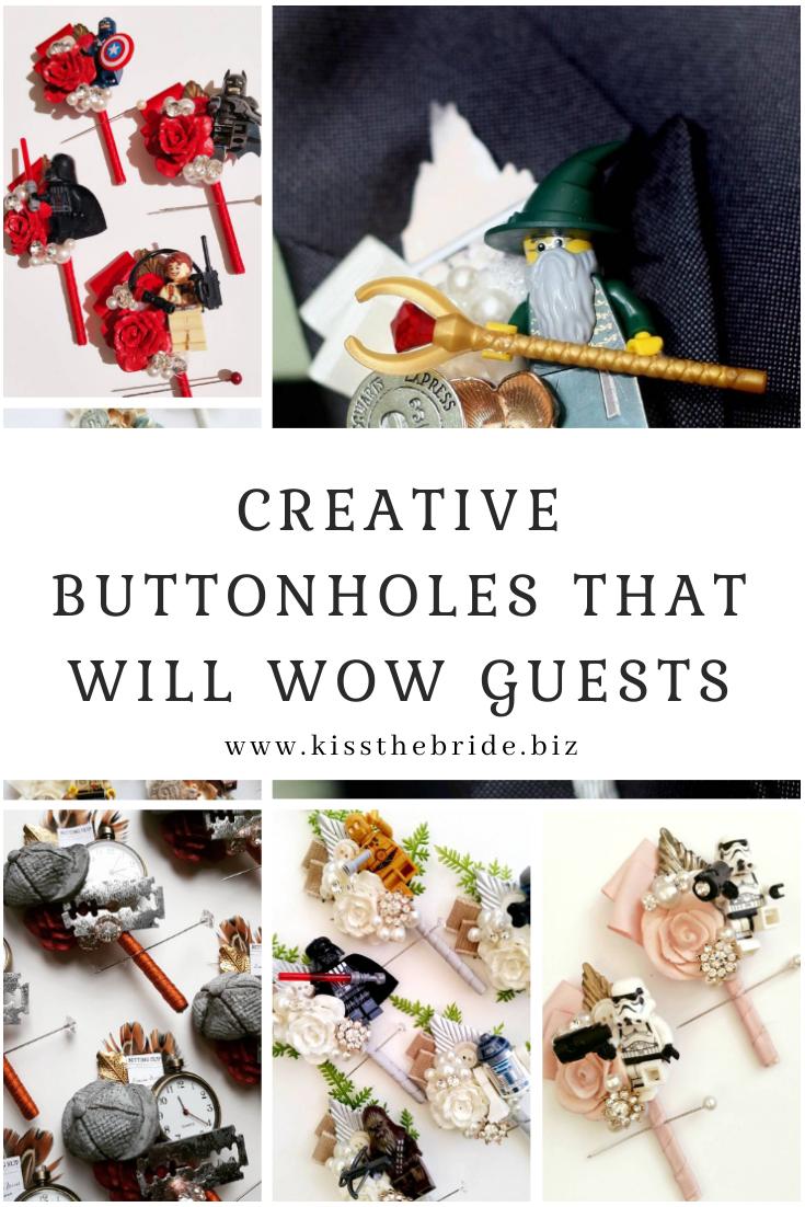 Beautiful buttonhole ideas