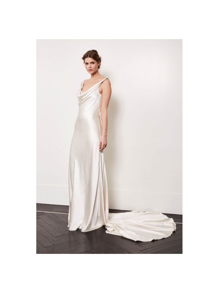 Amanda Wakeley satin wedding dress