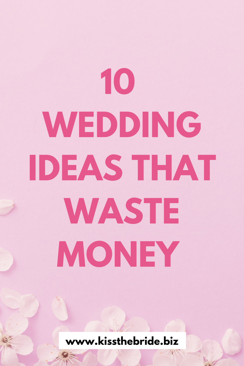 Wedding ideas that are no good